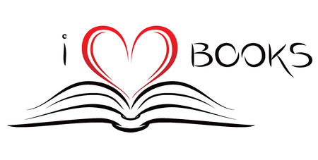 books library: I love books Illustration
