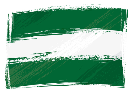 Andalusia flag created in grunge style Vector