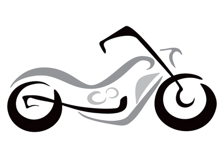 Illustration of motorcycle in sketch style Фото со стока - 22621284