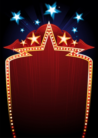hollywood stars: Poster design for great entertainment show