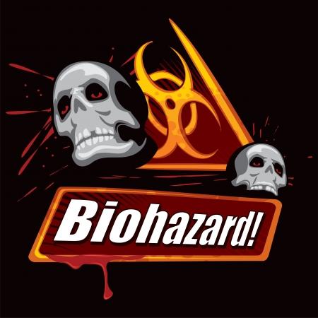biological waste: Biohazard symbol