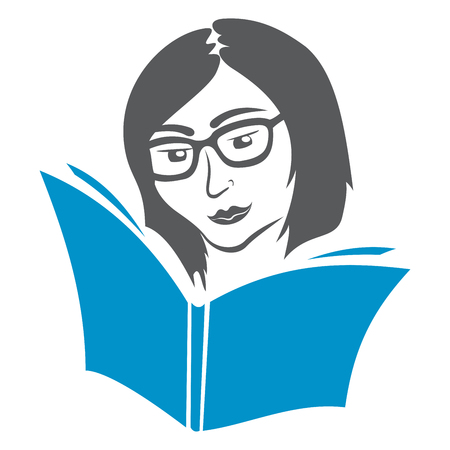 woman reading book: Education symbol