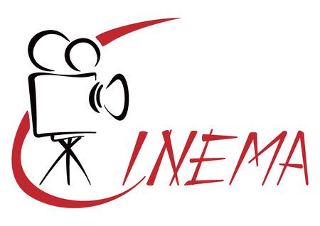 movie projector: Cinema symbol Illustration