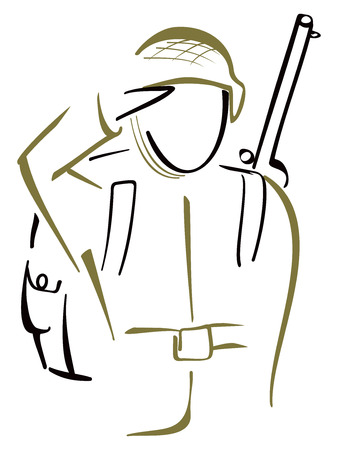 duties: Soldier saluted Illustration