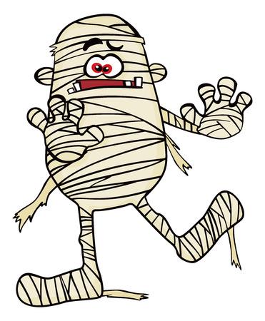 mummified: Creepy mummy Illustration