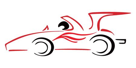 car outline: Race car