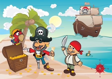 galleon: Treasure island Illustration