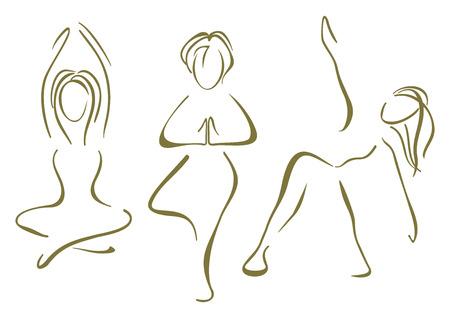 Yoga training Stock Vector - 23868420