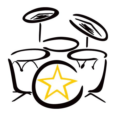 drummer: Set for drummer Illustration