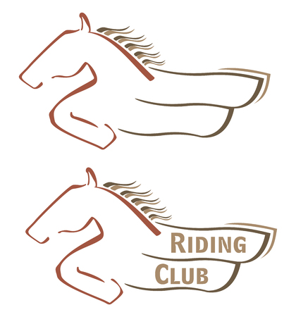 gelding: Design with horse for riding club