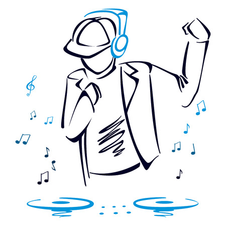 mixing: DJ mixing music