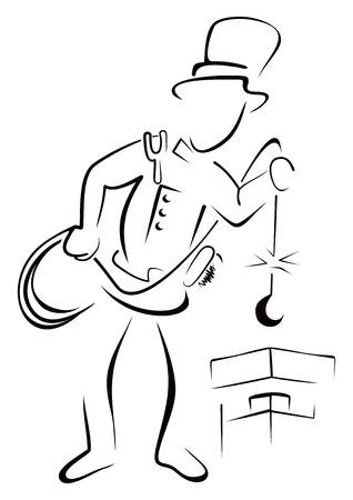 Czyszczenia komina Ilustracje wektorowe