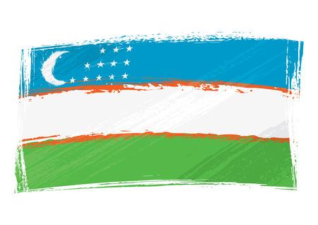 oezbekistan: Grunge Oezbekistan vlag
