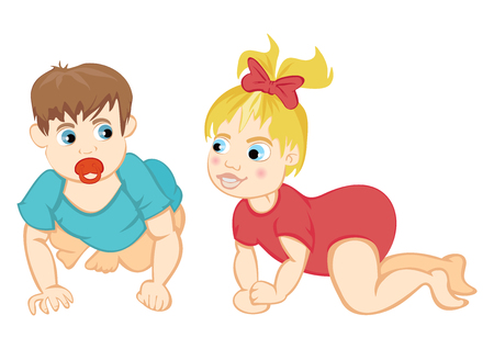 crawling: Baby crawling Illustration