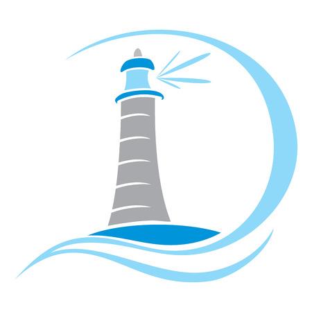 ships at sea: Lighthouse symbol