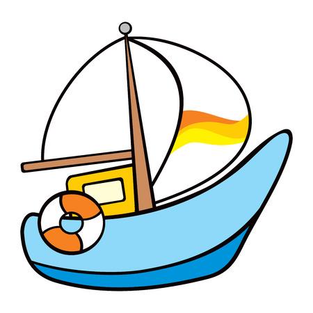 bateau de course: Voile sur la mer