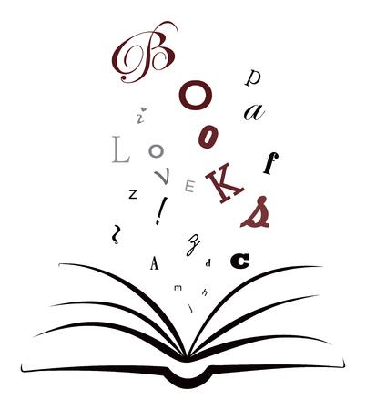 I love books Ilustracja