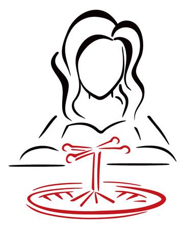 gambler: Female gambler Illustration