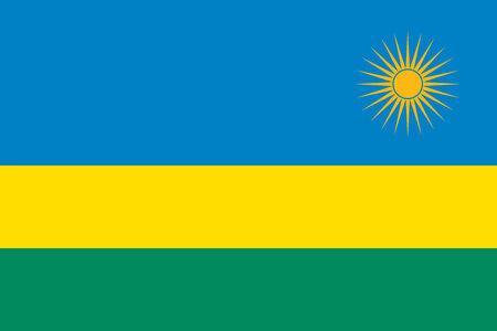 rwanda: Rwanda flag Illustration