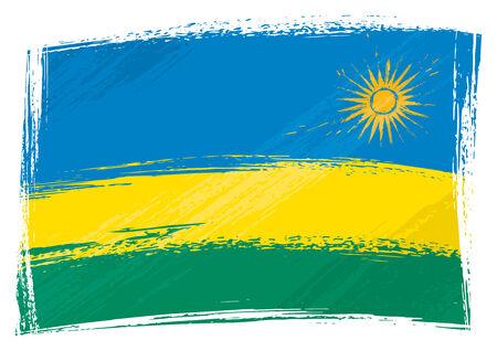 rwanda: Grunge Rwanda flag Illustration
