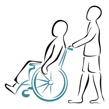 患者を運ぶ  イラスト・ベクター素材