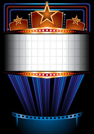 inauguracion: Cartel del cine Vectores