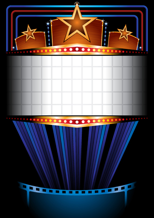 blockbuster: Cinema poster Illustration