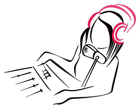 newsreader: Radio symbol Illustration