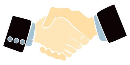 promising: Handshake illustration
