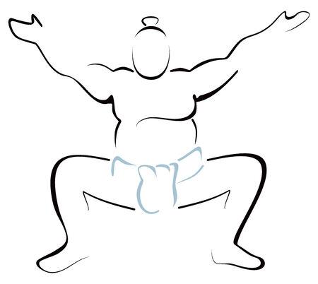 sumo: Sumo wrestler Illustration