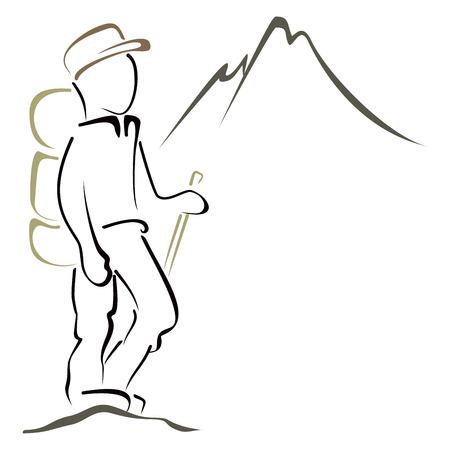 登山のシンボル  イラスト・ベクター素材