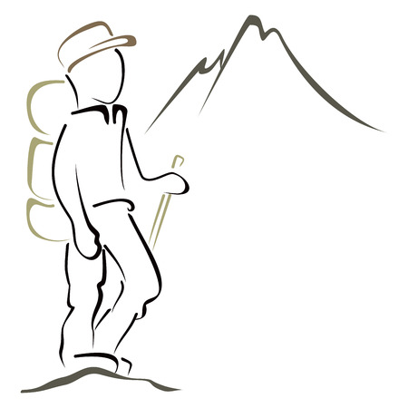 Mountaineering symbol Illustration