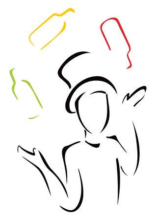Elegant juggler