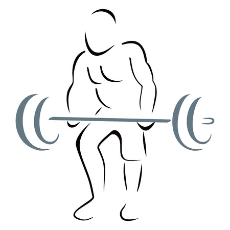 Weight lifter Illustration