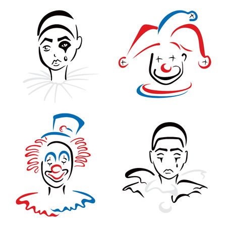 Circus artists Vector