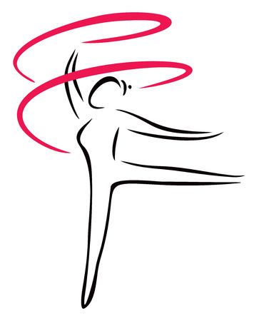 Artistic gymnastics Vector