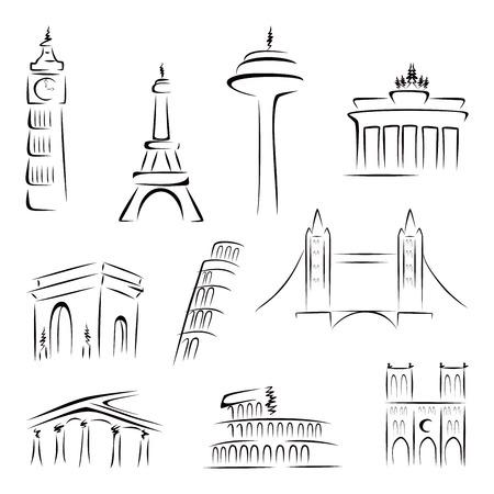 Famous buildings Vector