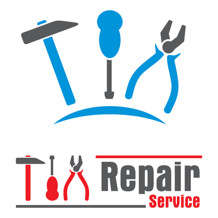Set of concepts symbols for repair service Vector