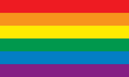 Rainbow vlag Stock Illustratie