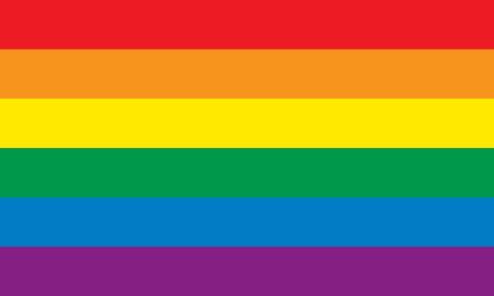 regenbogen: Rainbow vlag Stock Illustratie
