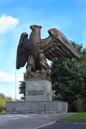 national military cemetery: Eagle at military cemetery in Zgorzelec Poland Editorial
