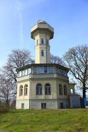 cosmology: Observatory at top of old tower in Zielona Gora Poland