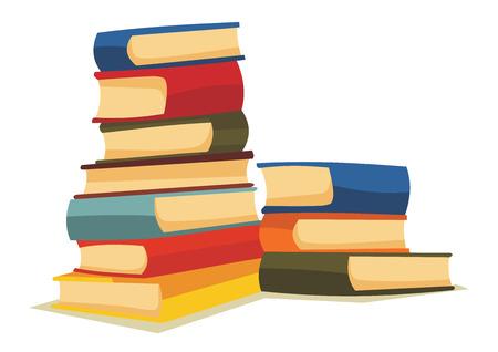 pile books: Cartoon books