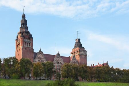 monument historical monument: Monument at Chrobry Embankment in Szczecin, Poland Editorial