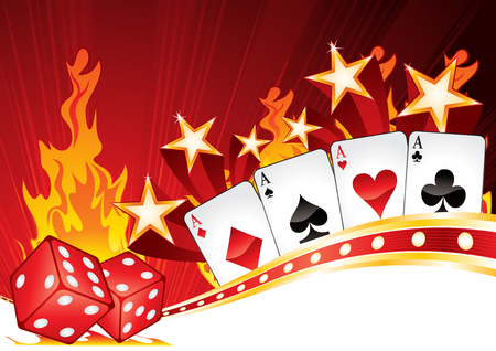 star background: Hot Casino Illustration