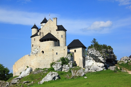 history architecture: The Bobolice royal Castle