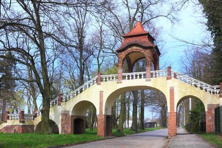Renaissance Bridge in Ilowa Poland Zdjęcie Seryjne