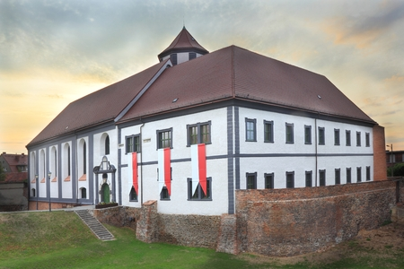 Facade of renovated fortress in Kozuchow, Poland Publikacyjne