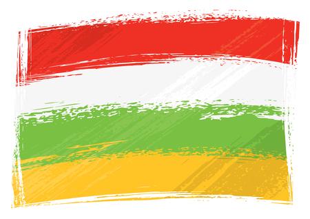 Spanish autonomous community La Rioja flag created in grunge style Ilustracja