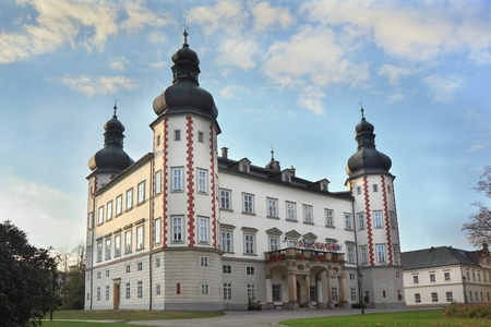 Entrance to palace in Vrchlabi, Czech Republic Publikacyjne
